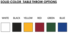blank table covers colors