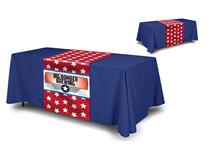 table cloth blank with printed table runner